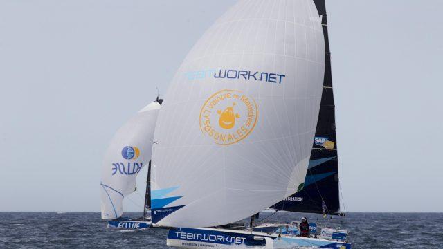 Justine Mettraux en course sur la dernière étape de la Solitaire Urgo Le Figaro 2019 - ©