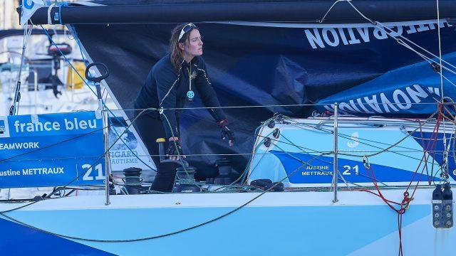 Après les 2 premières étapes de la Solitaire Urgo Le Figaro Justine Mettraux est 9ème du classement général provisoire - ©
