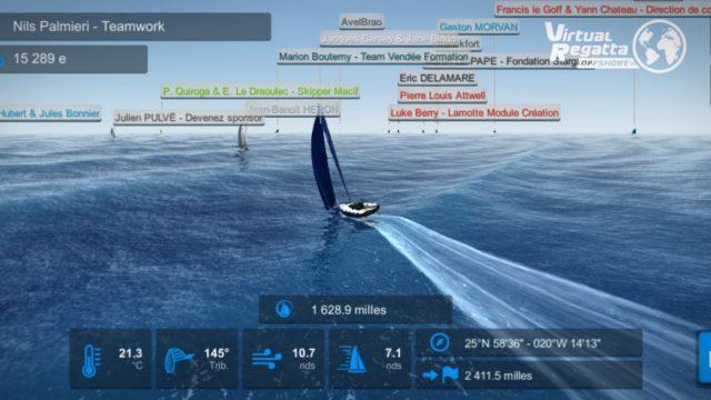 2ème course virtuelle en Figaro pour Nils Palmieri - ©