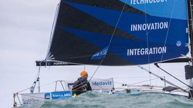 Nils Palmieri en course pour la 3ème étape de La Solitaire du Figaro - ©