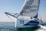 Départ de la premère étape du Teamwork Sailing tour à Barcelone en direction de Palma de Majorque